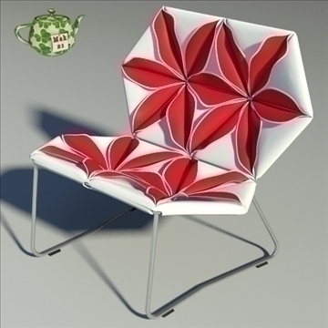 antibodi flower chair 3d model max dwg fbx obj 91731