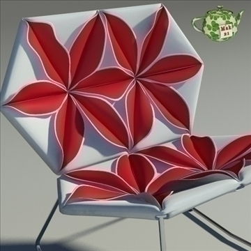 antibodi flower chair 3d model max dwg fbx obj 91736