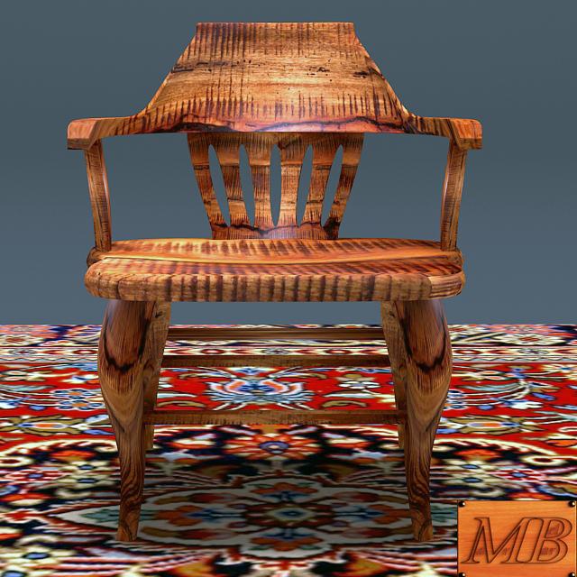 antik szilfa fa szék 3d modell max 153958
