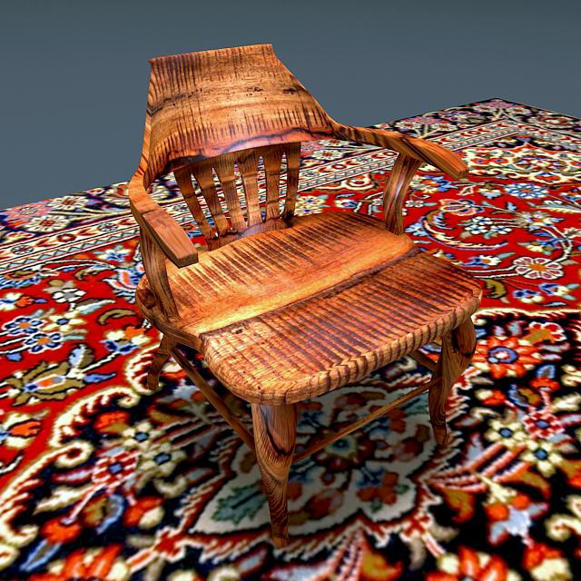 antique elm wood chair 3d model max 153960