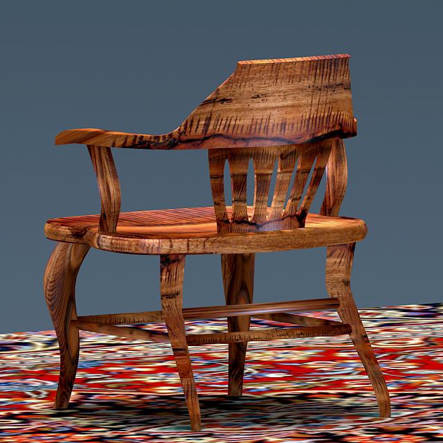 antique elm wood chair 3d model max 153962