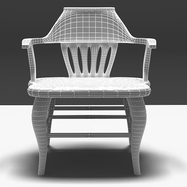 antique elm wood chair 3d model max 153963