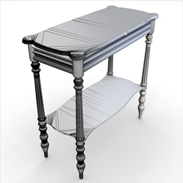antique-table 3d model 3ds dxf fbx c4d obj 85427