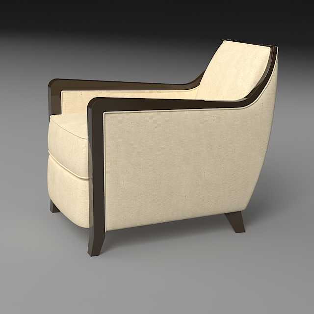 armchair 5 3d model 3ds max dxf fbx jpeg jpg obj 114946