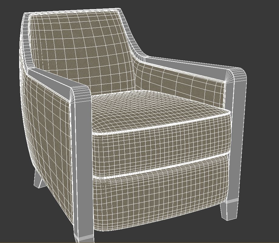 armchair 5 3d model 3ds max dxf fbx jpeg jpg obj 114948