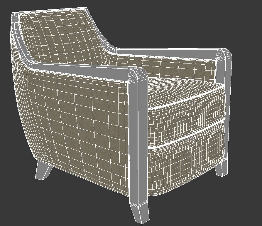 armchair 5 3d model 3ds max dxf fbx jpeg jpg obj 114951