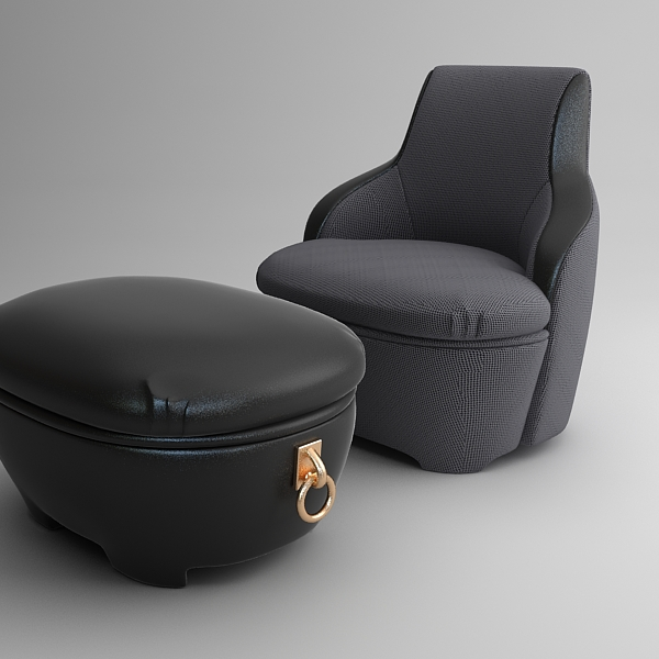 krēsls un dīvāns 3d modelis max fbx faktūra obj 120991