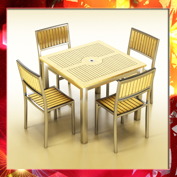 Bar Table and Chair ( 320.98KB jpg by VKModels )