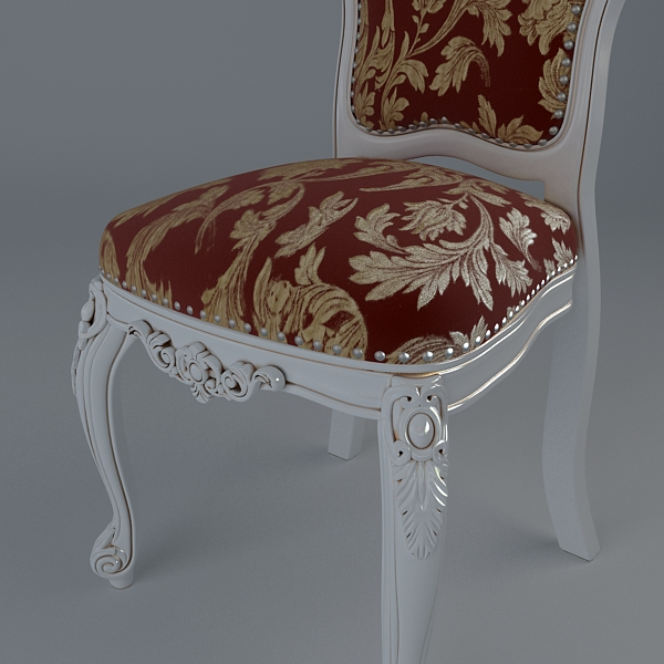 baroque style table and chairs 3d model 3ds max texture obj 120917