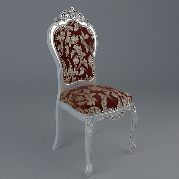 Baroque Style Table And Chairs 3d Model Buy Baroque