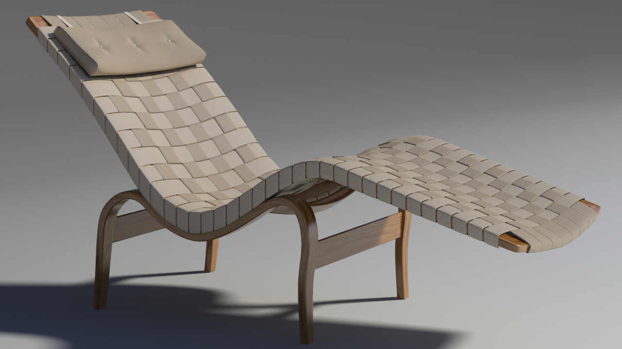 bruno mathsson chaise lounge 3d model max 155344