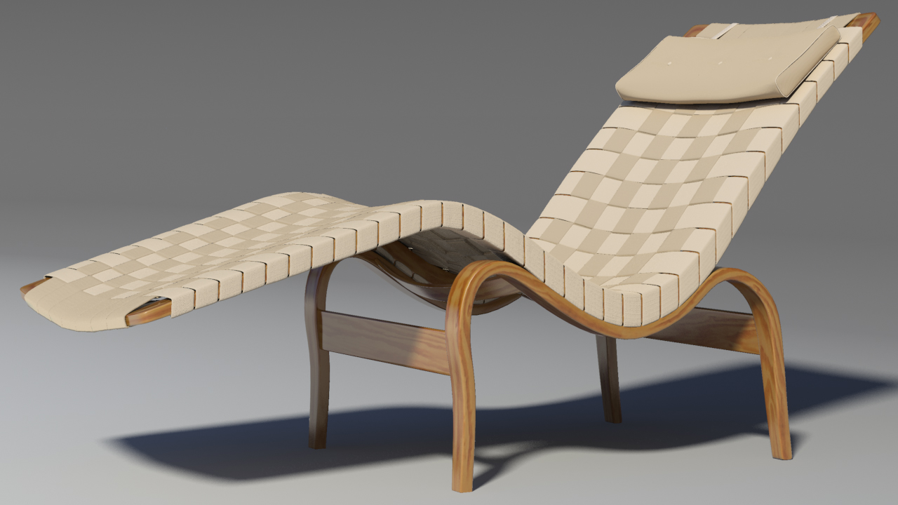 bruno mathsson chaise lounge 3d model max 155346