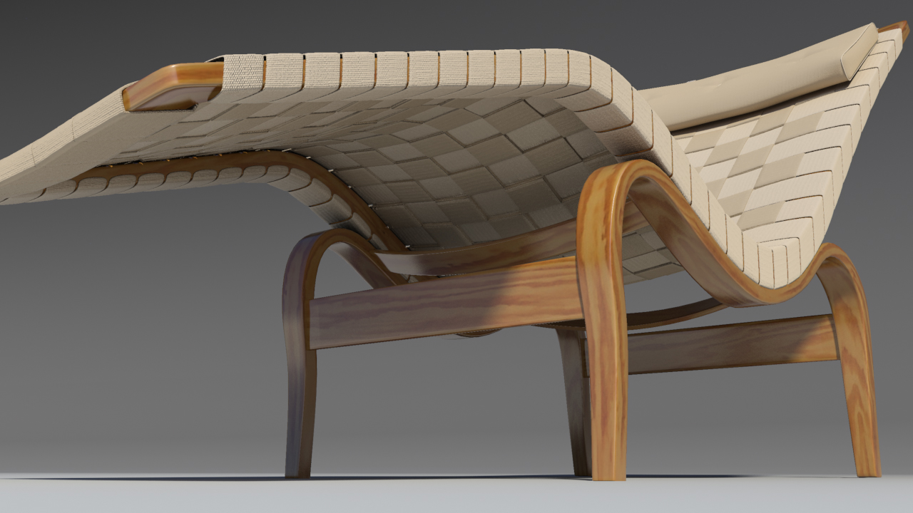 bruno mathsson chaise lounge 3d model max 155348