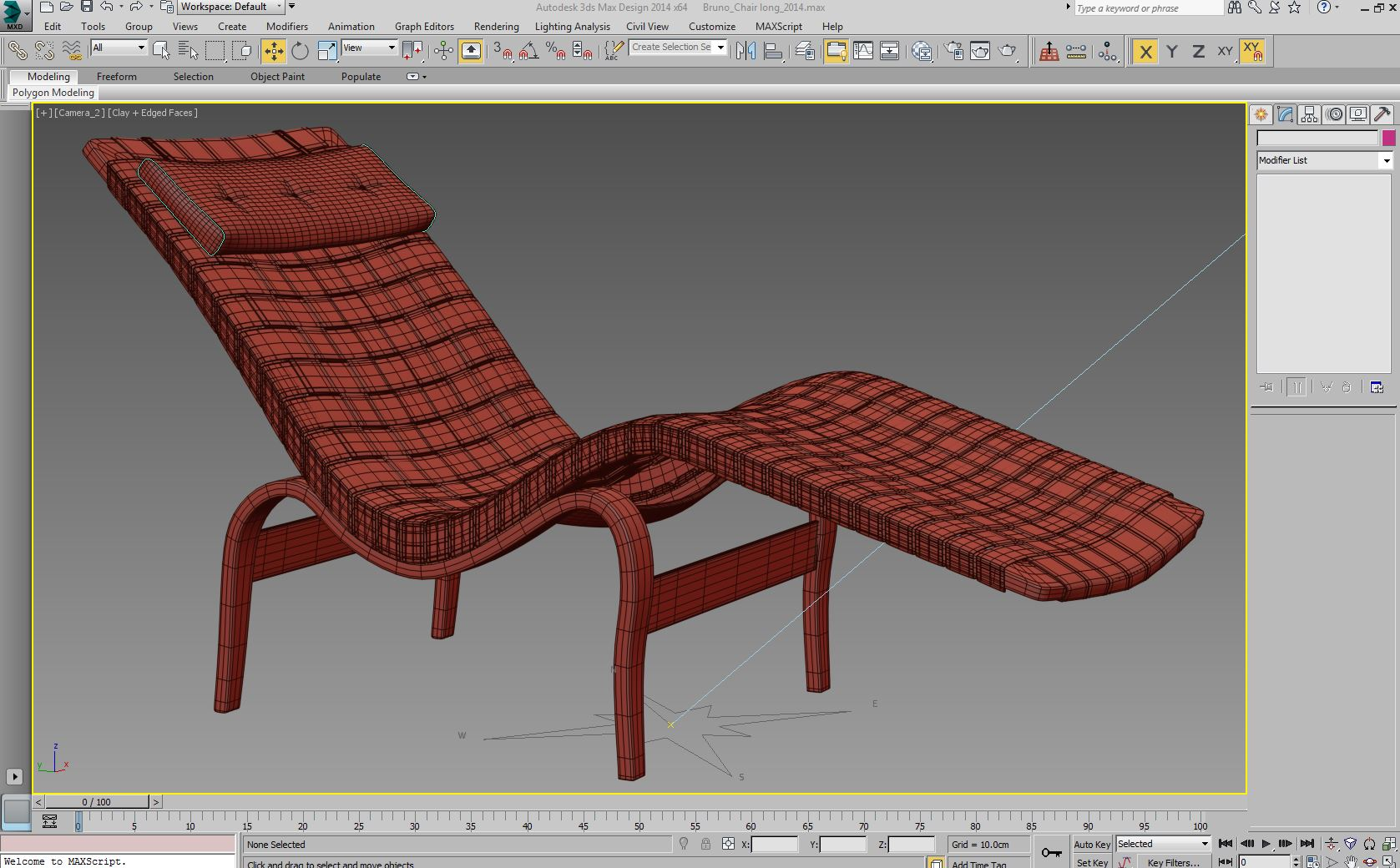 bruno mathsson chaise lounge 3d model max 155350