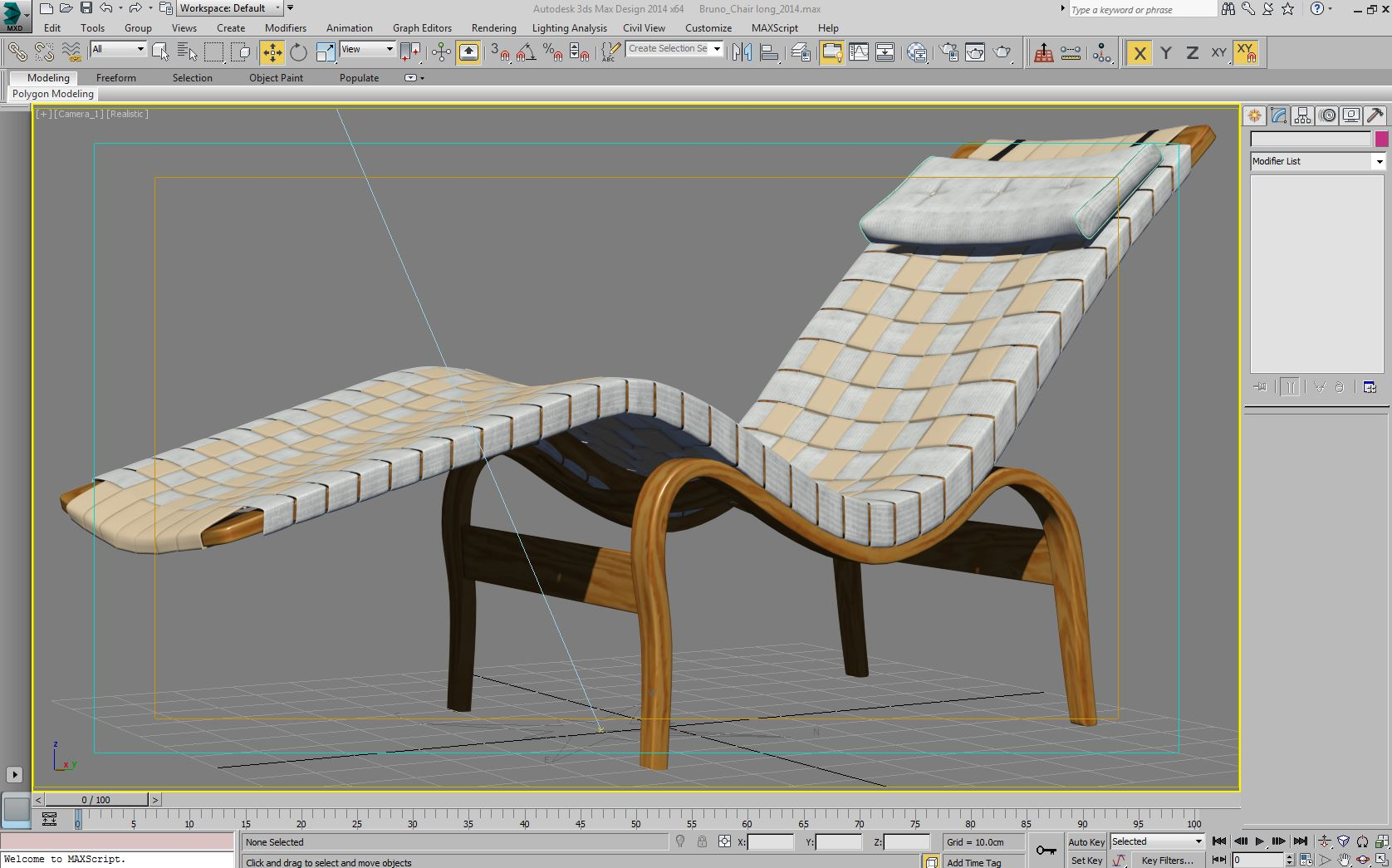 bruno mathsson chaise lounge 3d model max 155351