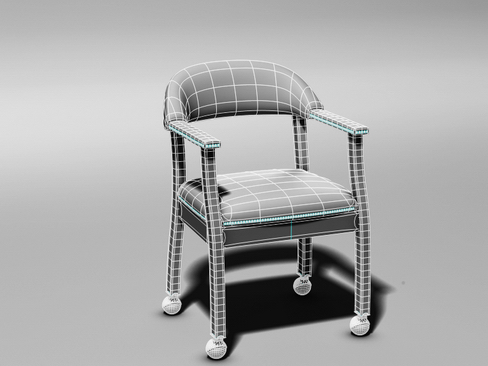 casino chair 3d model 3ds max c4d lwo ma mb obj 114294
