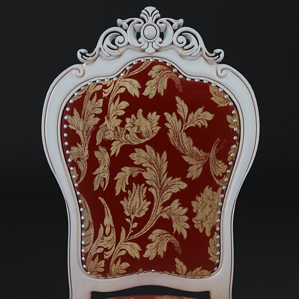 chair ornate antique armless 3d model 3ds max fbx texture obj 117018