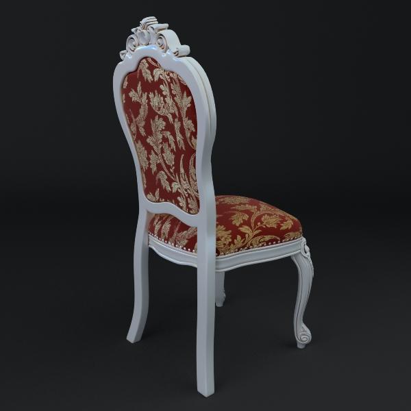 chair ornate antique armless 3d model 3ds max fbx texture obj 117019