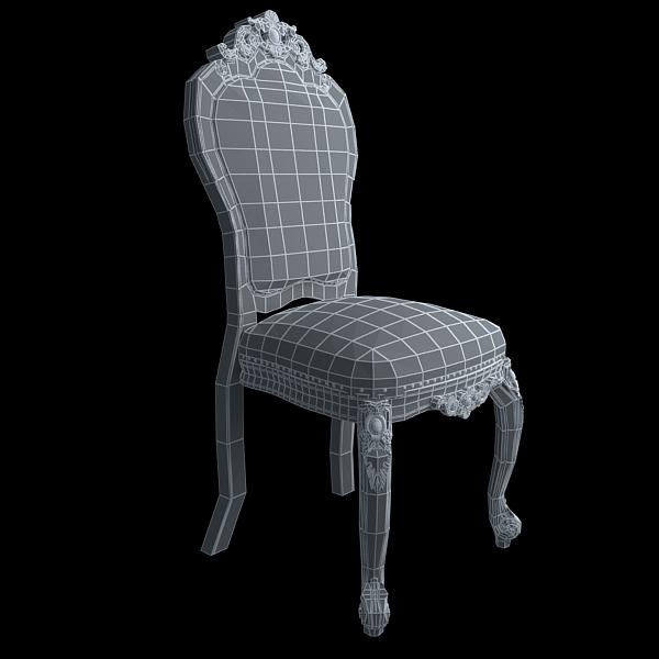 chair ornate antique armless 3d model 3ds max fbx texture obj 117020