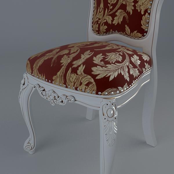 chair ornate antique armless 3d model 3ds max fbx texture obj 117021