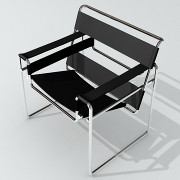 chair wassily 3d model 3ds 81157