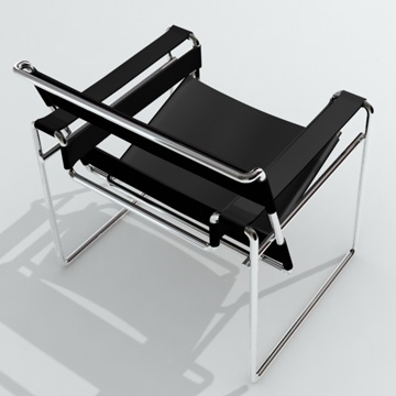 chair wassily 3d model 3ds 81159