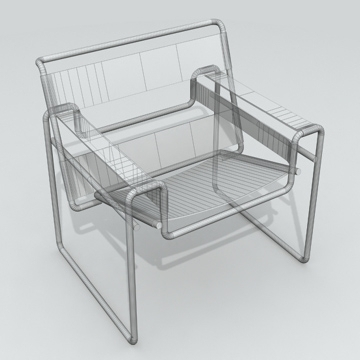 chair wassily 3d model 3ds 81160