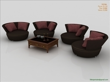 chairs collection 3d model 3ds max fbx obj 106443