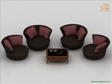 chairs collection 3d model 3ds max fbx obj 106445