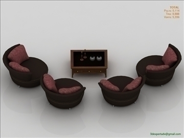chairs collection 3d model 3ds max fbx obj 106446