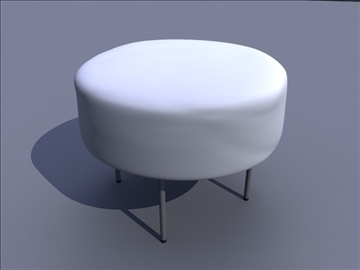 pouf rrethore 3d model ma mb obj 82916