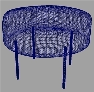 circular pouf 3d model ma mb obj 82918