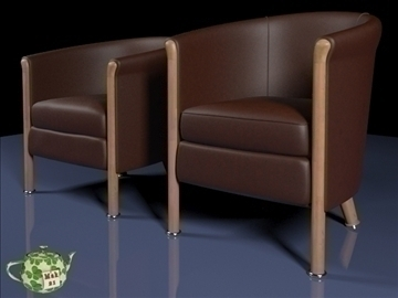 club armchair 2009 3d model 3ds max fbx obj 109871