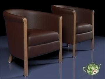 club armchair 2009 3d model 3ds max fbx obj 109872