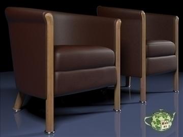 club armchair 2009 3d model 3ds max fbx obj 109873