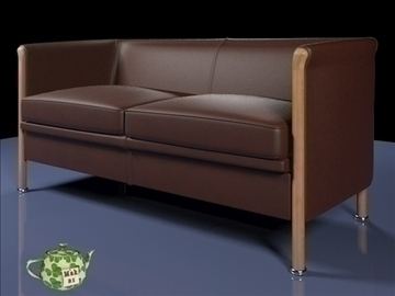 club sofa 2 p 2009 3d model 3ds max fbx obj 92280