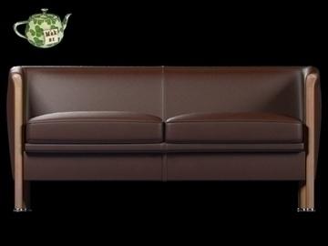 club sofa 2 p 2009 3d model 3ds max fbx obj 92281