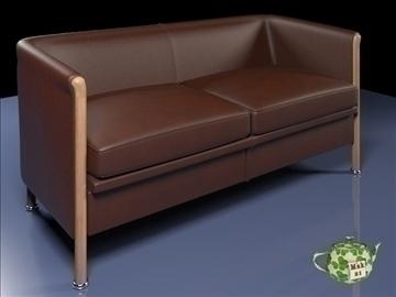 club sofa 2 p 2009 3d model 3ds max fbx obj 92282