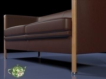 club sofa 2 p 2009 3d model 3ds max fbx obj 92283