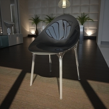 contemporary chair 3d model 3ds max dxf fbx lwo ma mb hrc xsi obj 111437