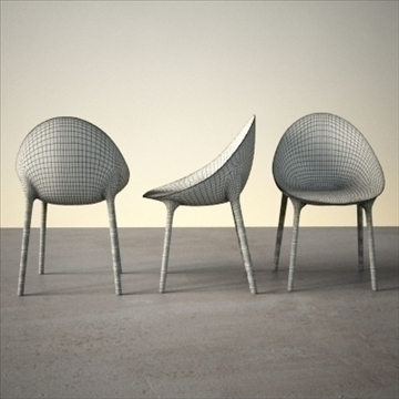 contemporary chair 3d model 3ds max dxf fbx lwo ma mb hrc xsi obj 111441