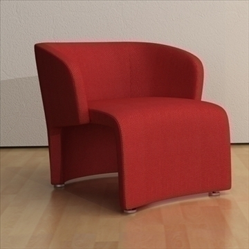 contemporary style armchair (fabricleather) 3d model 3ds max texture 110750