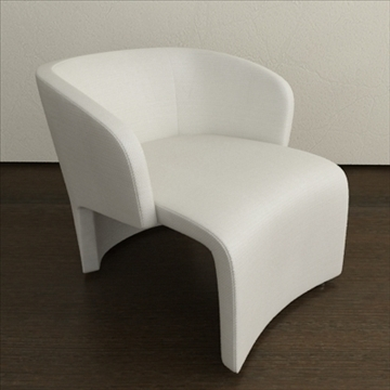contemporary style armchair (fabricleather) 3d model 3ds max texture 110752