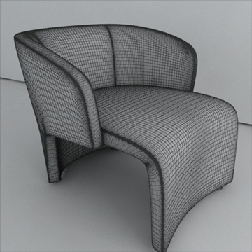 contemporary style armchair (fabricleather) 3d model 3ds max texture 110755