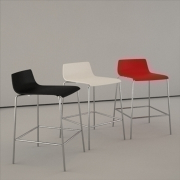 corian boffi bar chair 3d model 3ds max dwg lwo ma mb hrc xsi obj 110851