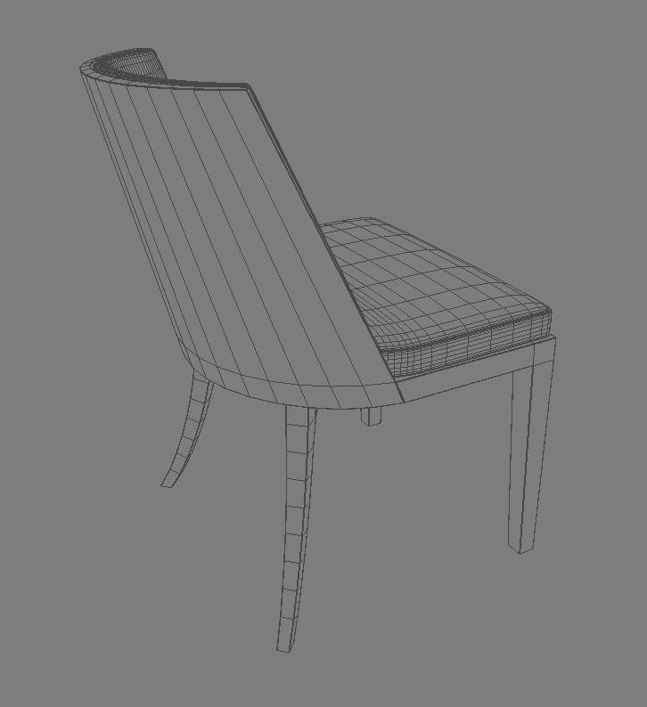 crescent chair 3d model 3ds max dxf fbx obj 114935