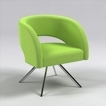 curva chair 3d model 3ds max dxf 110054