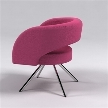 curva chair 3d model 3ds max dxf 110055