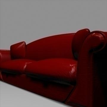 Dark Red Leather Sofa - FlatPyramid