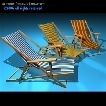 deck chair 3d model 3ds dxf c4d obj 81901